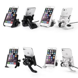 Image 5 - YPAY alüminyum bisiklet motosiklet telefon tutucu usb şarjlı 12 24V dikiz gidon ayna dağı bisiklet telefon braketi