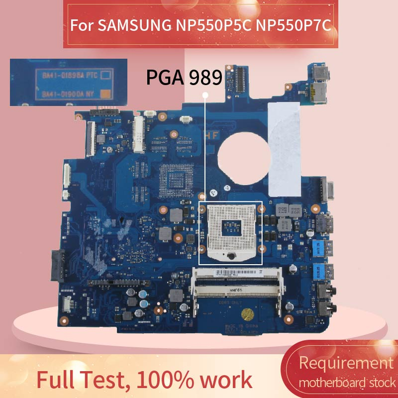 Laptop motherboard For SAMSUNG NP550P5C NP550P7C Notebook Mainboard BA41-01898A SLJ8E DDR3 image