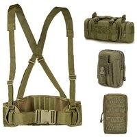 Taktische Molle Gürtel Armee Military Spezielle 1000D Nylon Gürtel männer Komfortable Kampf Gürtel EAS H-förmigen Weich Gepolsterte einstellbar