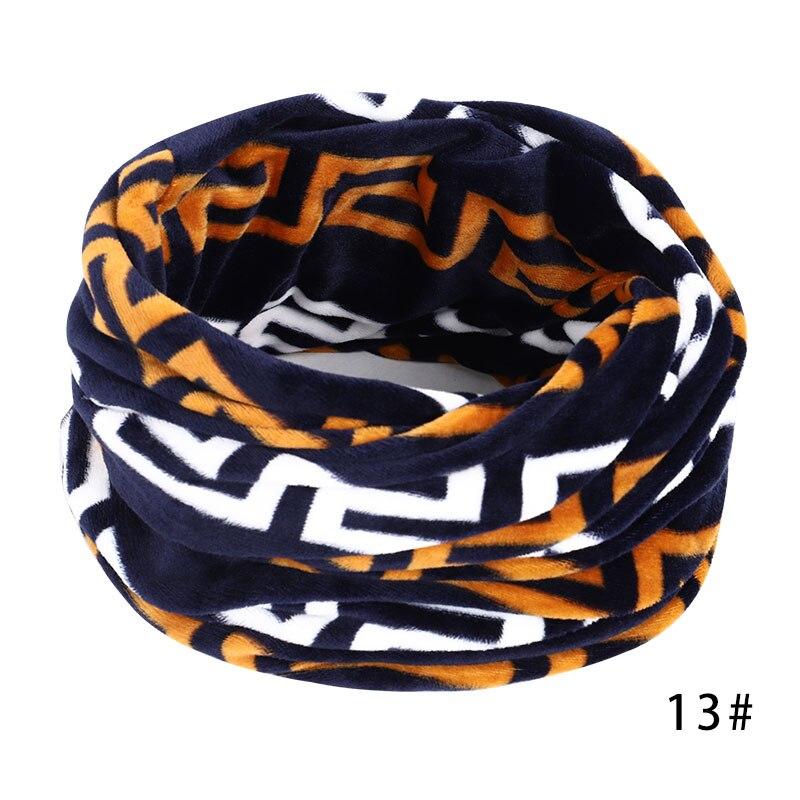Новинка, осенне-зимний женский шарф с принтом для женщин, модный бархатный тканевый шарф, мягкий удобный женский винтажный шарф - Цвет: 13