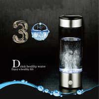 Generador de agua de hidrógeno fabricante de agua alcalina recargable portátil ionizador de agua botella 380ml línea USB