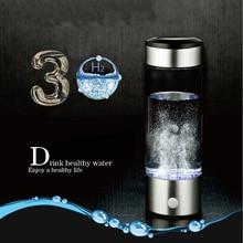 Wasserstoff Wasser Generator Alkalische Wasser Maker Wiederaufladbare Tragbare Wasser Ionisator Flasche 380ml USB Linie