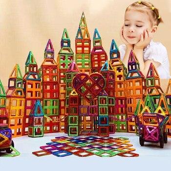 Магнитные игрушки, магниты для детей, развивающие блоки для девочек и мальчиков, конструктор, замок, самолет, автомобиль, креативные игрушки...