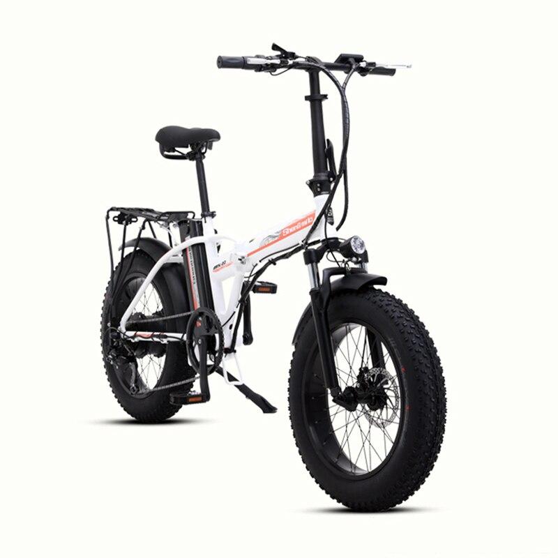 20 Дюймов 48 в электрический велосипед 500 Вт Мотор Снежный жир электровелосипед складная рама 48В 15ач литиевая батарея FAT tire Электрический горн... - 4