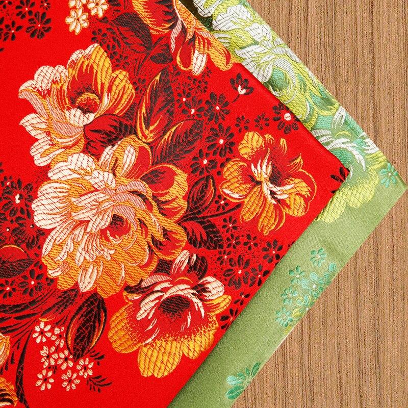 Blume satin stoff brokat jacquard stoffe für nähen cheongsam kimono patchwork hand DIY naht kostüm damast material