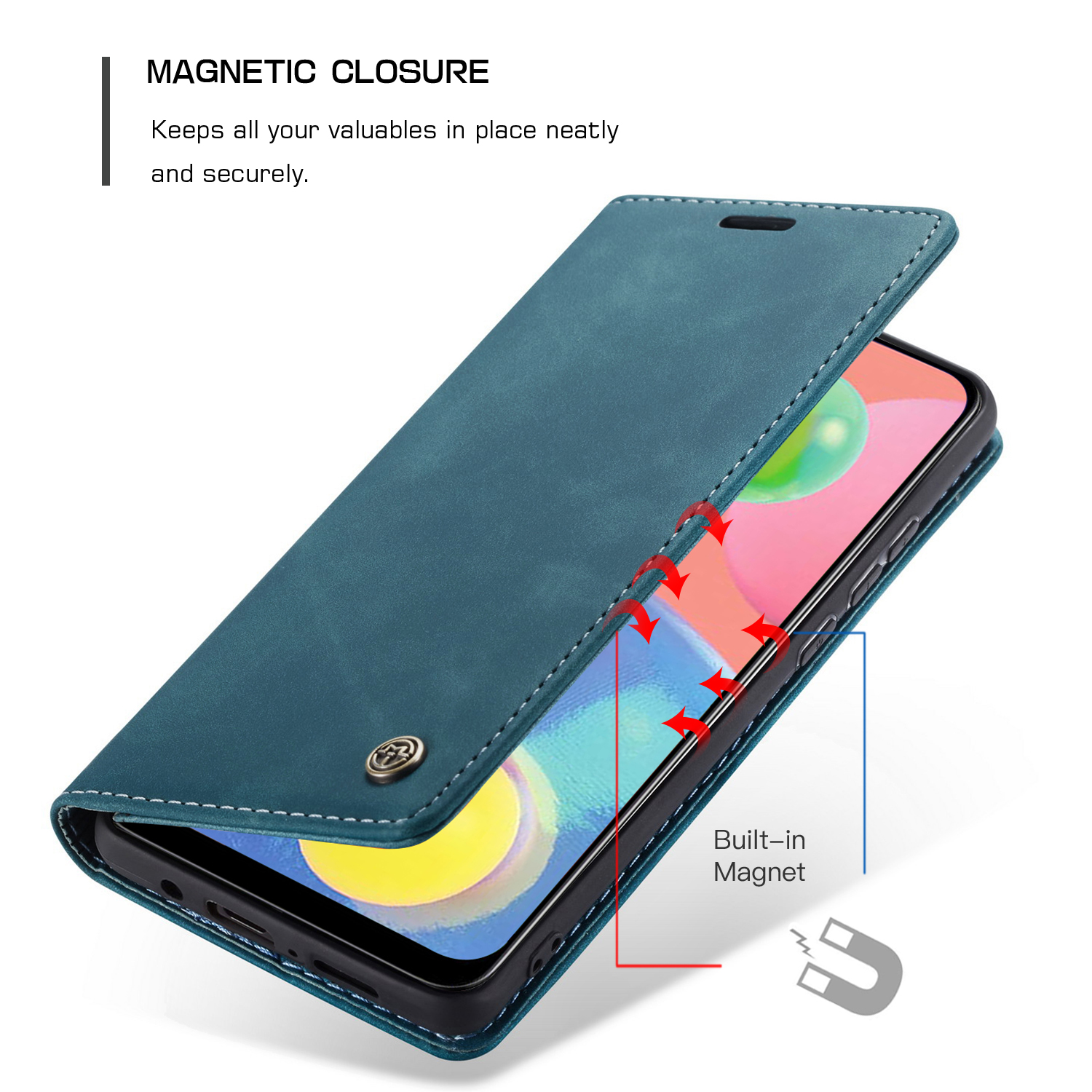 CaseMe Leather Case For Samsung Galaxy A51 A71 A91 A21S A31 A41 A80 A10S A20 A20E A20S A30 A30S A40 A40S A50 A50S A70 A70S Cover