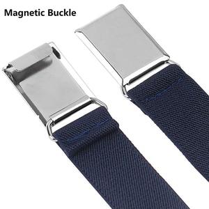 Image 2 - 9 estilos de cinturones magnéticos para niños pequeños para niños niñas, cinturón elástico ajustable magnético con hebilla magnética para niños