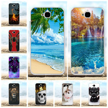 For Huawei Y6 Pro Cover Soft TPU Silicone Honor Play 5X Case Flowers Patterned Enjoy 5 Holly 2 Plus Shell
