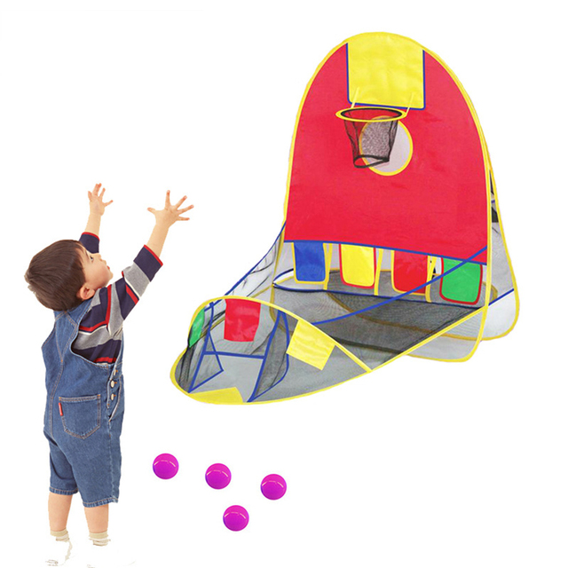 New Ball Tent Play House Basketball Basket Tent Ocean Ball Pool Outdoor Indoors Sport Kids Toys Beach Lawn Play Tent Scoring