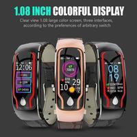2 in 1 Smart Uhr Armband Mit Bluetooth Headset Combo Anruf Herz Rate Sport Schritt Multi funktion wasserdichte Sprechen Armband-in Intelligente Armbänder aus Verbraucherelektronik bei