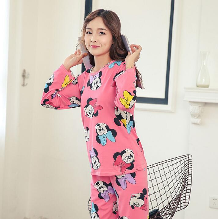 Wholesale Pajamas Sets Spring Autumn 22 Style Thin Carton Generation Women Long Sleepwear Suit Home Women Gift Female Sleepwear 27