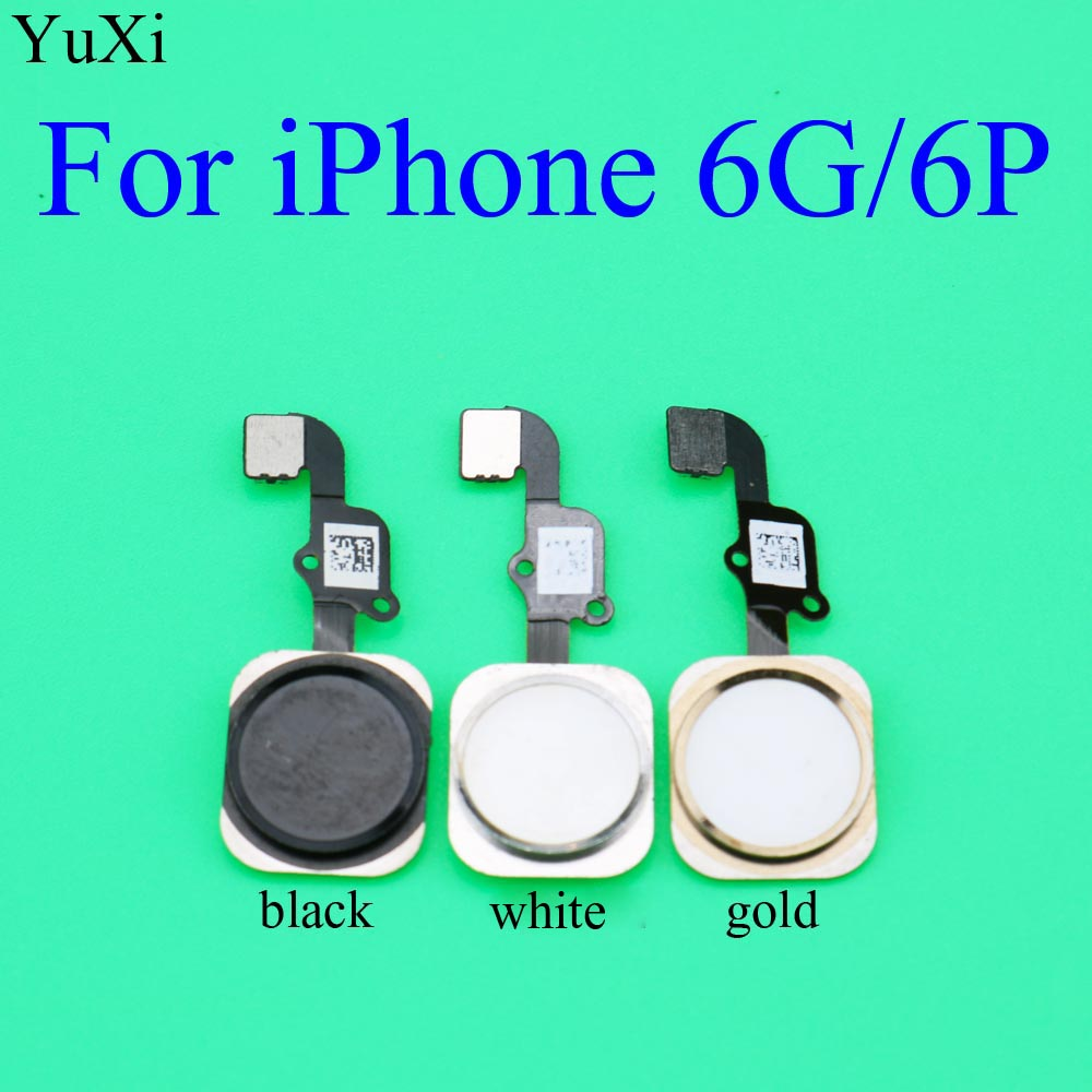 YuXi Home Button Key Flex Kabel Für <font><b>iPhone</b></font> <font><b>6</b></font> 6G 6P Rückkehr Taste Menü Tastatur <font><b>Fingerprint</b></font> Touch Flex kabel Ersatz image