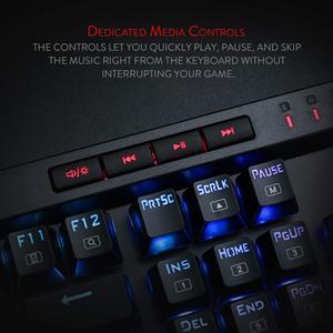 Image 3 - Redragon K580 VATA Mechanical Gaming Keyboard RGB LED Backlit 104 Keys Anti Ghosting Macro Keys Blue Switches for DOTA 2 Gamers