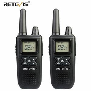 Image 5 - Mini talkie walkie portatif RT41 2 pièces VOX Scan sans licence FRS Radio bidirectionnelle NOAA alerte météorologique émetteur récepteur Hf