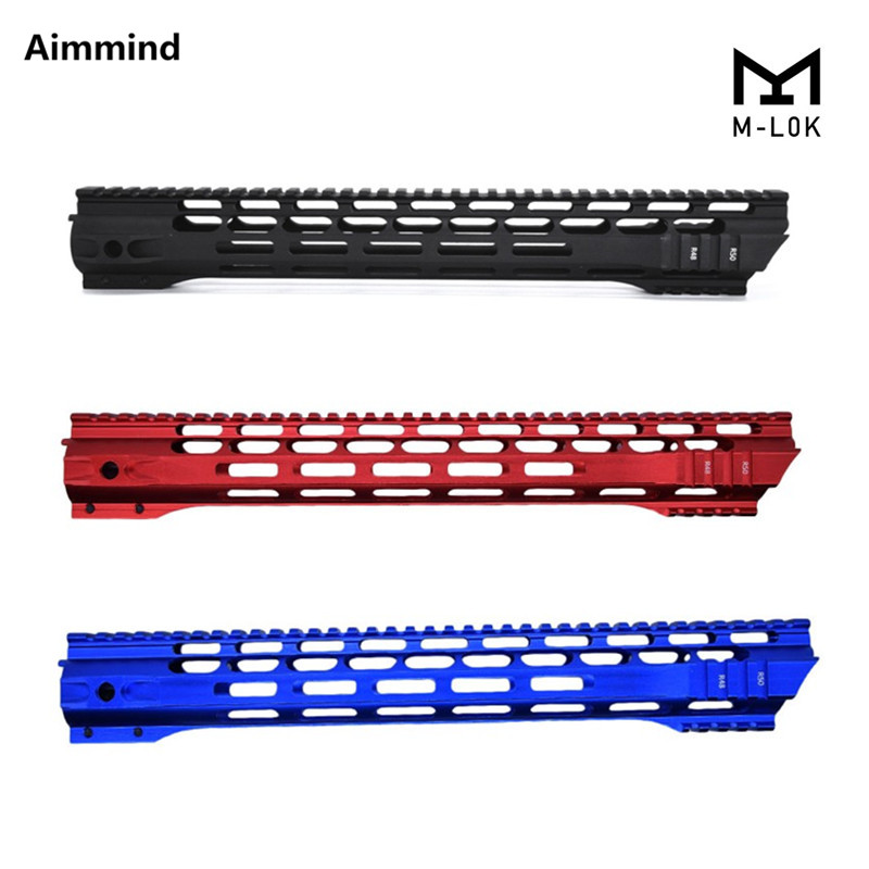 7 10 12 15 inch M-LOK handguard Free Float Super Slim ar 15 Handguard Quad Rail MLOK Handguard Picatinny Rail for M4 M16(China)