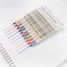 Ensemble de stylos pinceaux de couleur, 10 couleurs, marqueur de tissu, pointe douce, calligraphie, pinceau de couleur fine, feutres, marqueurs d'art, papeterie