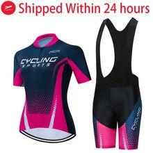 VTT à séchage rapide vêtements 2020 femmes vélo jersey bavoir ensemble robe été sports de plein air cyclisme vêtements dames vtt vêtements