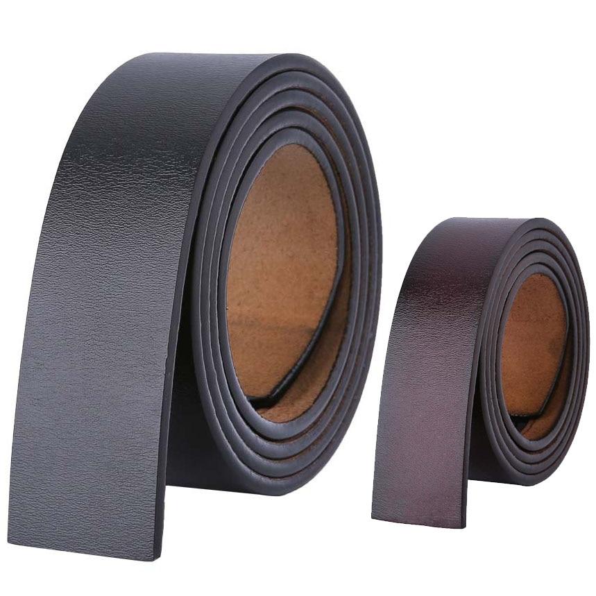 100 120 130 140 150 160cm Cowskin Belts No Buckle Without Buckle 3.5cm Wide Real Genuine Leather Belt Body Men Large Size Belt