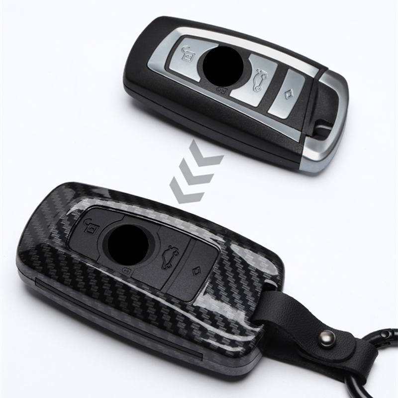 Fashion ABS Carbon fiber Car Remote Key Case Cover For BMW 1 2 3 4 5 6 7 Series X1 X3 X4 X5 X6 F30 F34 F10 F07 F20 G30 F15 F16
