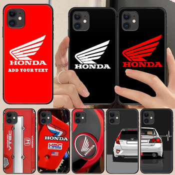 HONDA Car brand Phone Case Cover Hull For iphone 5 5s se 2 6 6s 7 8 11 12 mini plus X XS XR PRO MAX black coque trend Etui image