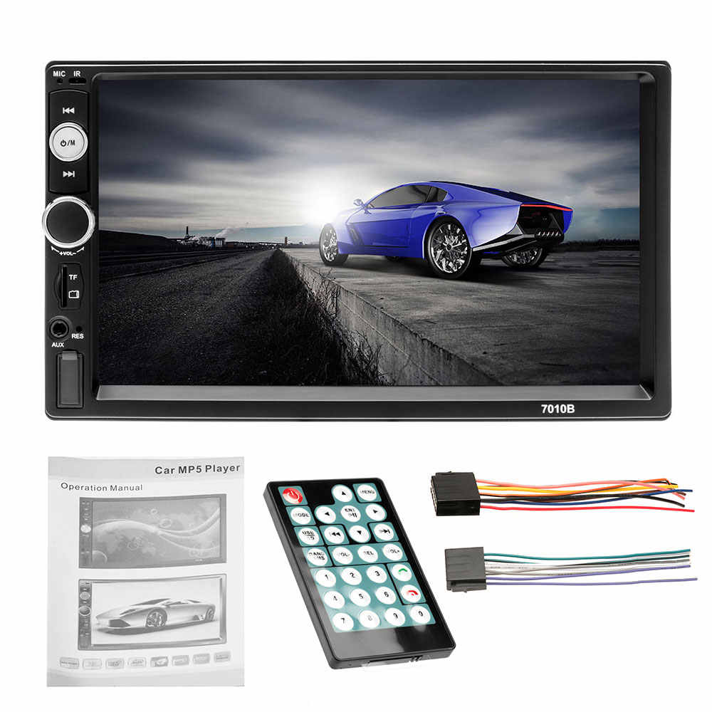 Autoradio 2 Din 7 Inch Car Radio Bluetooth Auto Stereo Multimedia  Player MP5 Support Rear View Camera Double