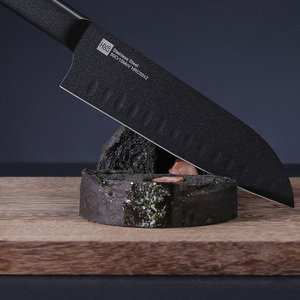 Image 4 - オリジナル huohou クール黒キッチンない粘着性ナイフ 2 個ステンレス鋼カッターセット