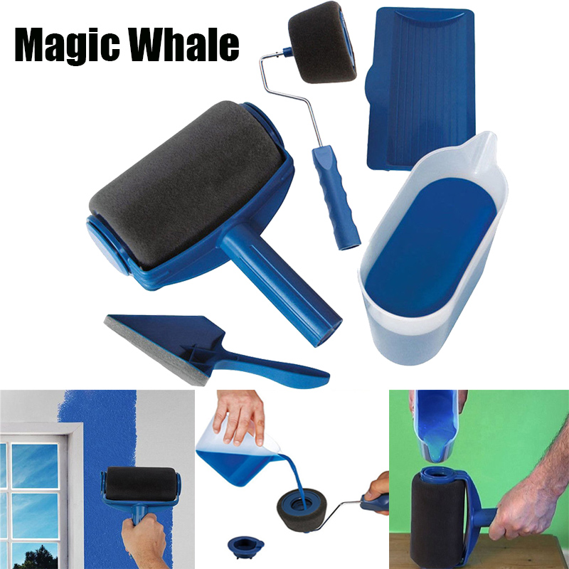 8pcs-paint-roller-multifunctional-household-use-wall-decorative-paint-roller-brush-tool-painting-brushes-set