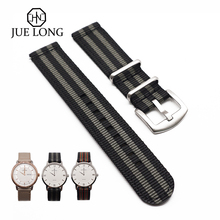 General Replacement Watch Bands Woven Nylon 20mm 22mm Universal Band Soft Sport Strap With Quick Easy Release Pin