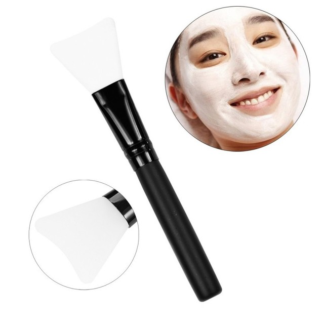 Women Fashion 1pc Silicone Facial Face Mask Brush Mask Mud Mixing Brush Tool 5 Color Soft Women Skin Face Care tool 3