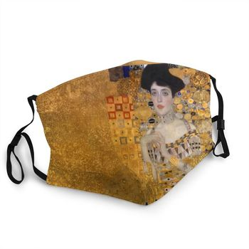Adele Bloch Bauer Reusable Unisex Adult Face Mask Gustav Klimt Anti Haze Dust Protection Cover Respirator Mouth Muffle image