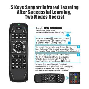 Image 3 - G7 V Pro Blacklit пульт дистанционного управления гироскоп Беспроводная воздушная мышь с микрофоном для X96 mini H96 MAX T95Q TX6 Android TV Box