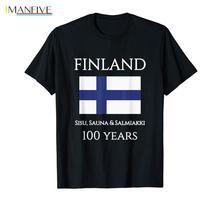 2019 Newest Men'S Funny Suomi Finland 100 Years Shirt | Finnish Flag Shirt T Shirt пижама music finnish