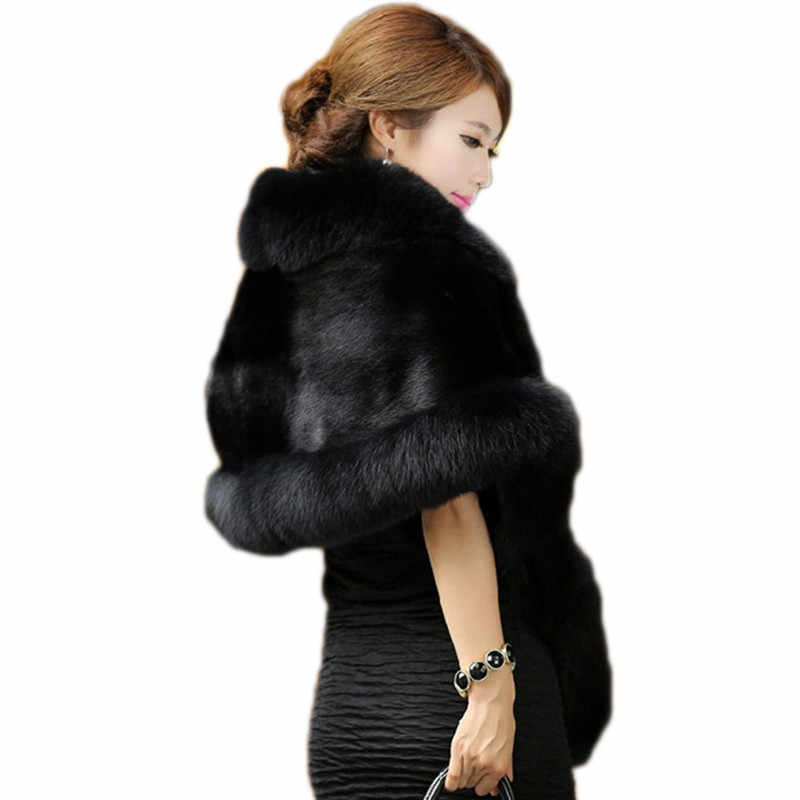 2020 neue Faux Fuchs Pelz Mantel Dünne Nachahmung Nerz Pelz Schal Weibliche Abstand Spezielle Bieten Faux Pelz Opera Cape LH563