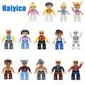 Большие строительные блоки, аксессуары для фигурок, совместимые с Duplos, городские кирпичи, кукла, занятие персонажем, сборка, Обучающие Детск...