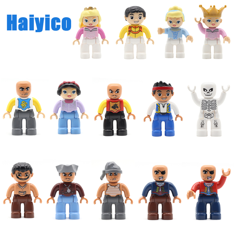 Family Figure Model Assemble Big Building Blocks Accessories Compatible Duplos City Doll Character Enlighten Child Bricks Toys