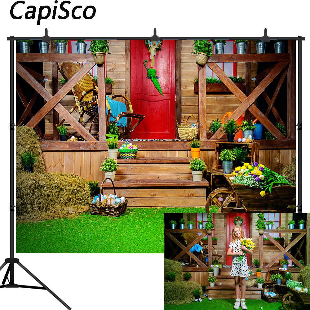 Capisco イースター写真の背景春木の家草花背景写真スタジオ photophone photocall 撮影小道具
