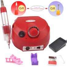 Pro RED Electric Nail Drill Manicure Machine Set Nail Art Equipment 35000RPM for Manicure Pedicure Nail File Tools Polish Bits(China)