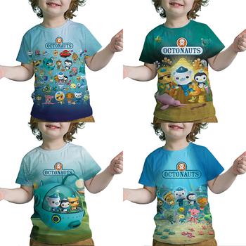 Dzieci Octonauts 3D Print t-shirty chłopcy dziewczęta nastolatki t-shirty Camiseta maluch Cartoon t-shirty z motywem Anime letnie ubrania dla dzieci tanie i dobre opinie POLIESTER spandex CN (pochodzenie) Lato 25-36m 4-6y 7-12y 12 + y Damsko-męskie Na co dzień Drukuj REGULAR Z okrągłym kołnierzykiem