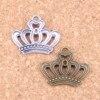 14pcs Charms imperial royal crown 22x18mm Antique Pendants,Vintage Tibetan Silver Jewelry,DIY for bracelet necklace