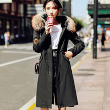 2019 Haining Ni over the fur one rabbit liner detachable coat female winter women(China)