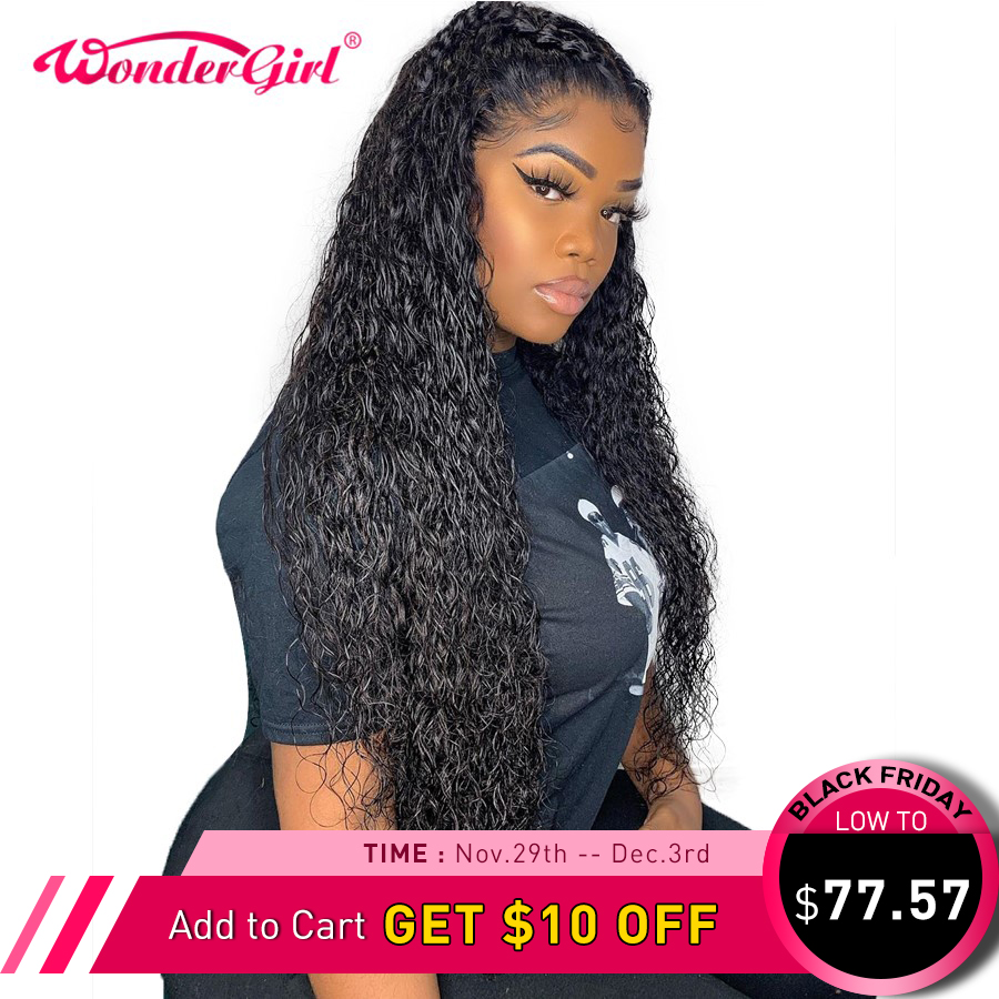 Glueless Water Wave Full Lace Wigs For Black Women Pre Plucked Full Lace Human Hair Wigs With Baby Hair Wonder Girl