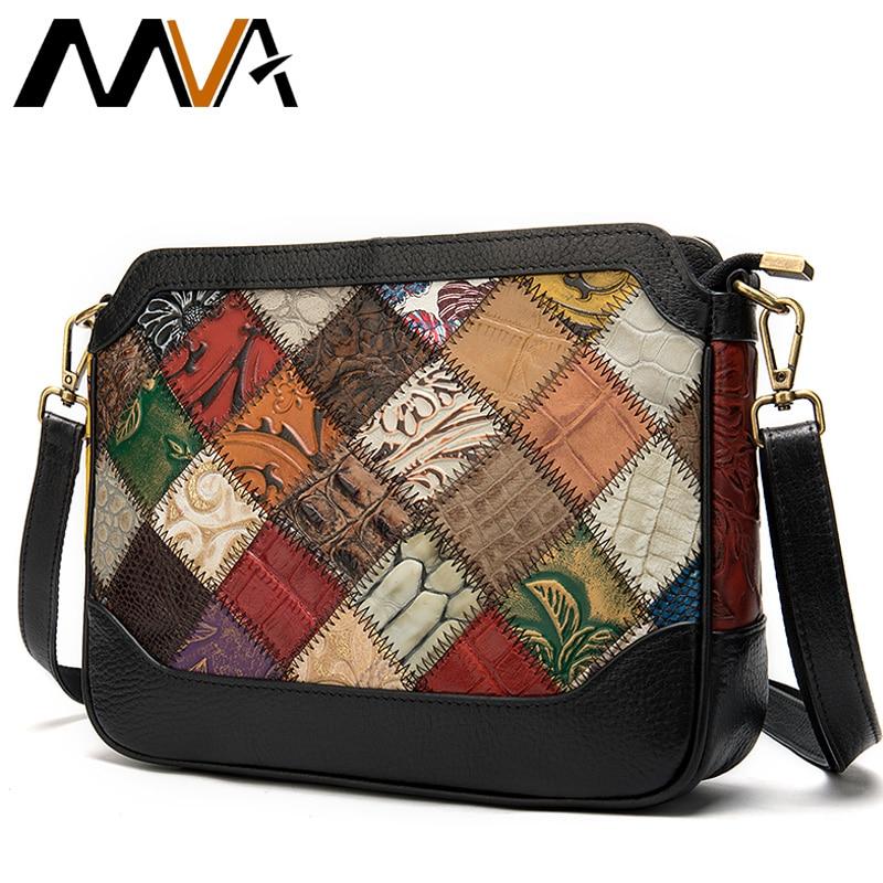 MVA Bohemia Bag Women's Genuine Leather Handbags For Women's Shoulder Bags Crossbody Bags For Women Messenger Bag Luxury Handbag