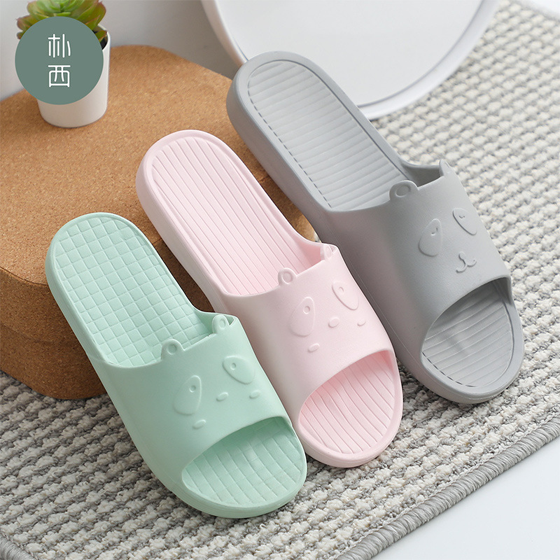 Unisex Home Sandals Bath Non-slip Soft Bottom Home Bathroom Slippers Couple Home Slippers Men's And Women's Y9Y090A10