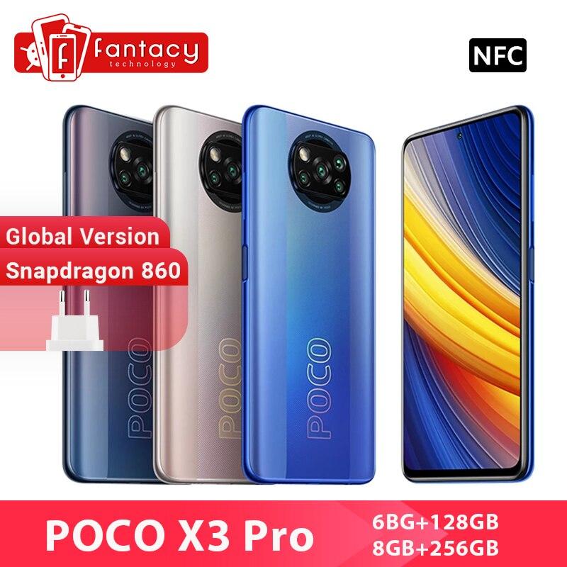 В наличии глобальная версия POCO X3 Pro смартфон NFC 33 Вт Charge мобильный телефон Snapdragon 860 48MP Quad Camera 6,67