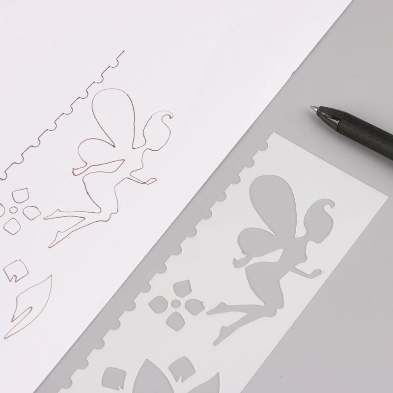 8Pcs/set Kids Plastic Drawing Template Rulers Stencils DIY Painting DIY Making School Supply Tools Craft L41E