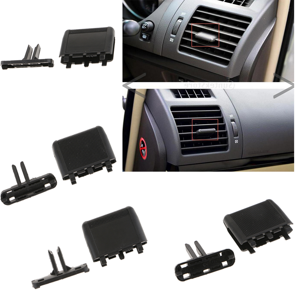 4x Black Plastic Air Conditioning A/C Vent Louvre Slice Clip Pick Aftermarket Part