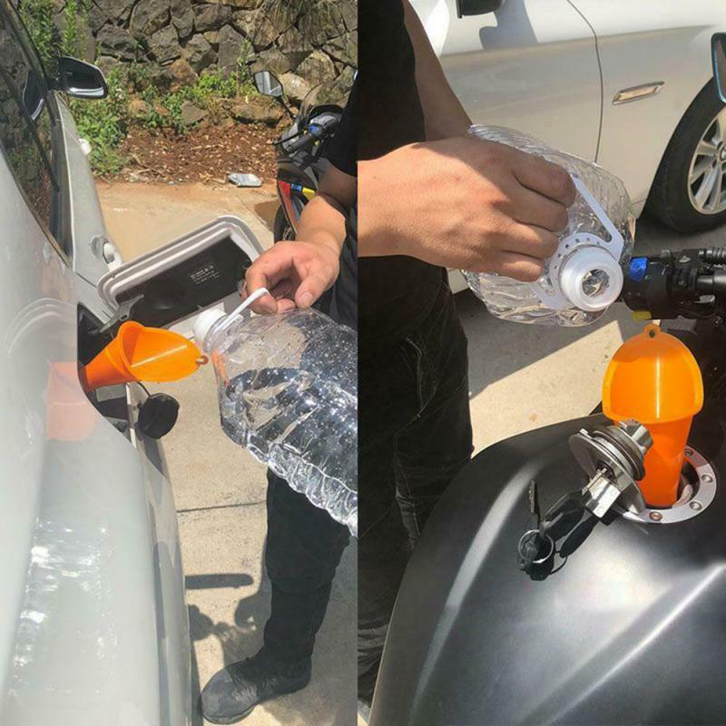 2pcs Portable Motorcycle Forward Control Bike Transmission Crank Case Oil Filling Fill Funnel Wear-resistant Oil Filling Funnel