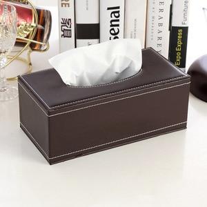 Коробка для салфеток из искусственной кожи для дома, ванной, коробка для салфеток, автоматический контейнер для полотенец, бумажный держате...