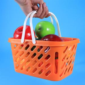 2pcs Portable Grocery Baskets Shopping Basket with Handle Toys Storage Baskets