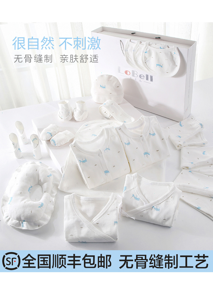 Primary Infant Cotton Baby Newborn Infants Newborns Clothes A Class Set Spring One Pair Of Breasted Lace BABY'S FIRST Month Supp